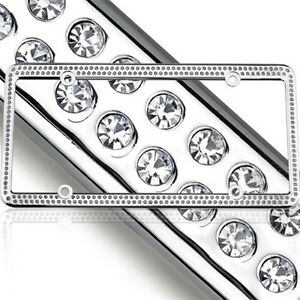 Swarovski Clear Crystal Bling License Plate Frame Inlay