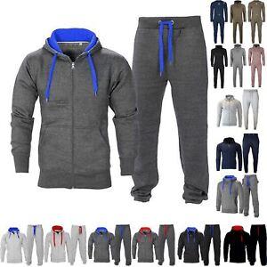 Herren-Essentials-farbige-Kordelzuegen-Fleece-Trainingsanzug-Kapuzenpullover-Jogger-Unten-Set