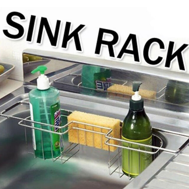 Kitchen Sink Rack Stainless steel  Storage Holder Organizer