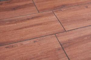 Terrassenplatte Keramik Cognac Holzoptik Bodenplatte 120x40x2 Cm 0