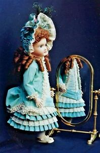 "27-28""ANTIQUE FRENCH BRU/JUMEAU-GERMAN DOLL DRESS&JACKET/BONNET&UNDIES PATTERN"