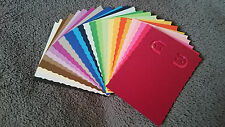 NEW Handmade Earring jewelry display card, 2x3 inch, 50 pcs, asst colors, edged