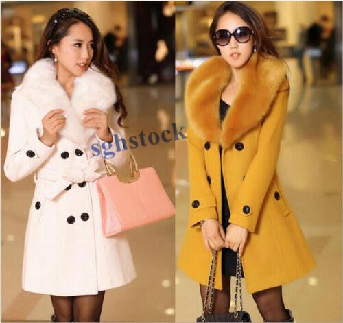 Style Kvinders Overcoats Frakke Casual Toppe Korean Winter Fur Jackets Collar Medium rv1rXq5
