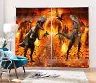 3D Dinosaur 2 Blockout Photo Curtain Printing Curtains Drapes Fabric Window AU