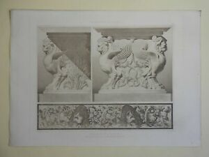 Fragments from Pompeii Decorative Architecture lovely 1890 large print Lemercier