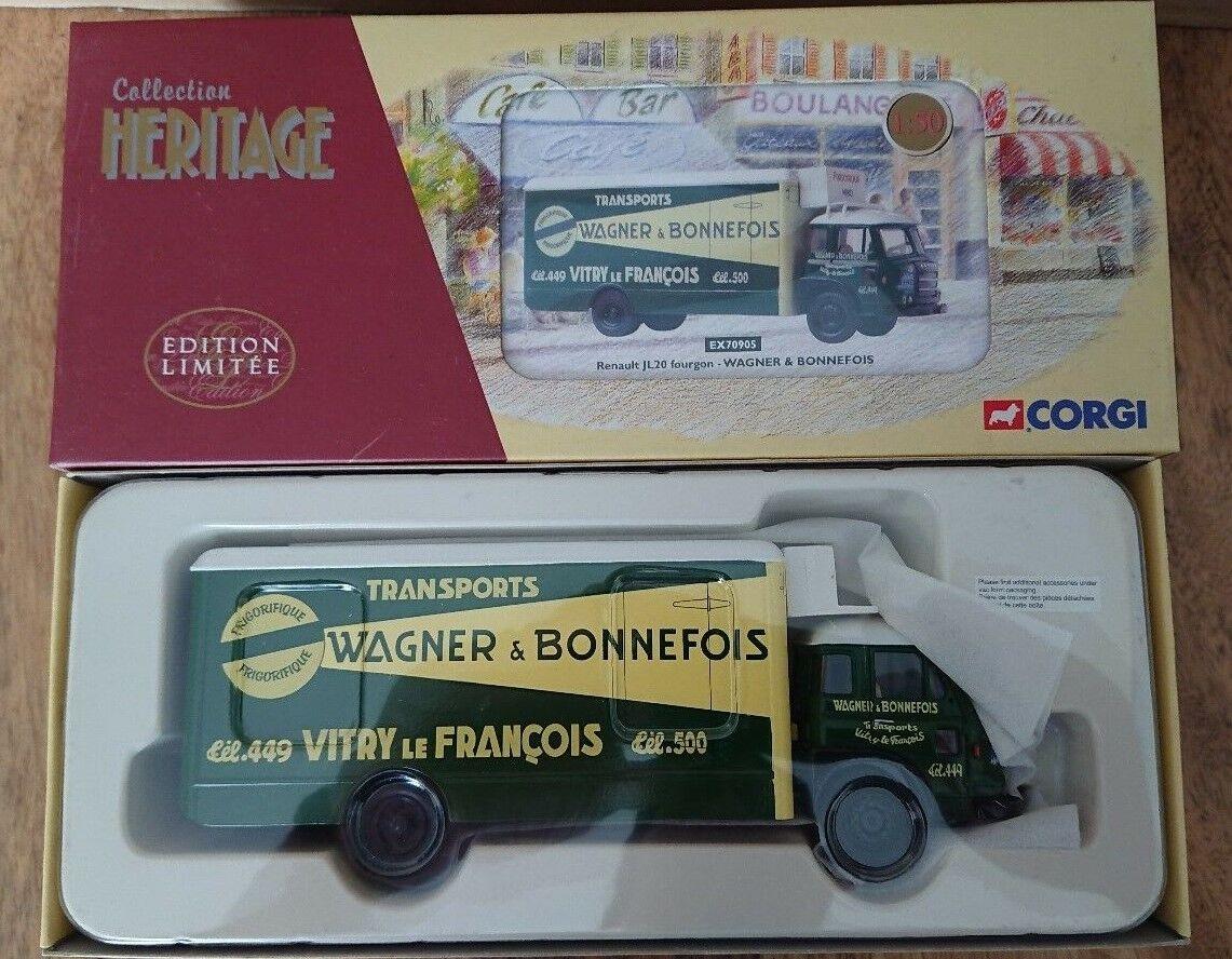 Corgi EX70905 Renault JL20 Fourgon WAGNER & BONNEFOIS Ltd Edit. No. 0006 of 1900