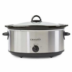 98f770a7452 Crock-Pot SCV700-SS 7 qt. Manual Slow Cooker for sale online