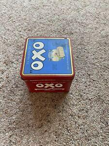 """1985 OXO """"DIAMOND JUBILEE"""" 1910-1985 48 OXO BEEFY STOCK CUBES TIN (Empty)"""