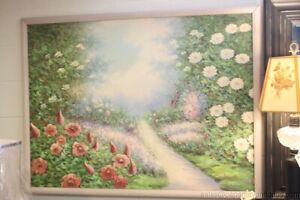CHENPAT1302 100/%  hand painted pathway landscape view oil painting art on canvas