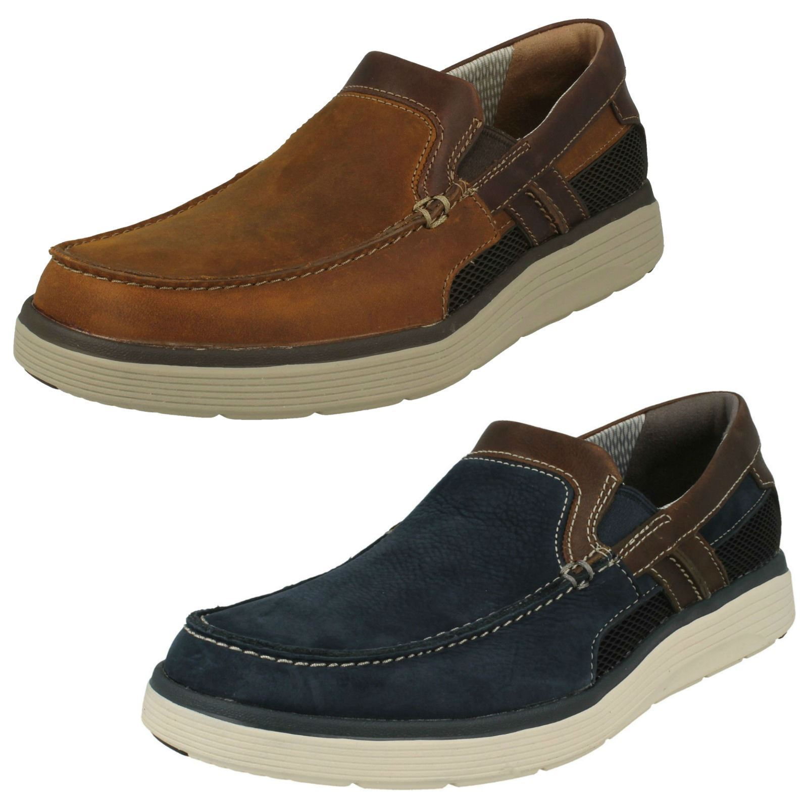 Mens Clarks Casual Slip On shoes 'Un Abode Free'