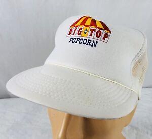 6a936bef6cc Image is loading Vtg-Big-Top-Popcorn-Hat-Snapback-Trucker-Cap-