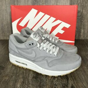 Details about New Nike Air Max 1 Leather LTR Premium Med Grey Gum 705282 005 Men's Size 8