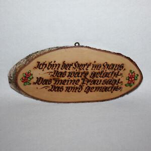 Österreichisches Souvenir - Pöstlingberg/Linz - Holz - Vintage um 1970