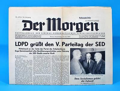 Brillant Der Morgen 10. Juli 1958 Zum 61. Geburtstag Hochzeit 10.07.1958 Ddr 10.7.1958 Verbraucher Zuerst