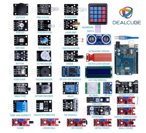Kit DE 37-en-1 Module Capteur V2.0 avec Arduino Uno pour Débutants et Profession | eBay