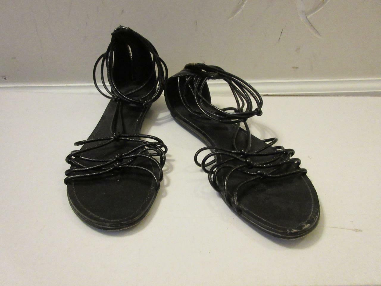 WOMENS BELLE ZIP-UP BY SIGERSON MORRISON BLACK STRAPY ZIP-UP BELLE SANDALS SIZE 6B 9aa5ec