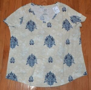 48b2a30c768 Sonoma The Everyday Tee Short Sleeve Plus Size T-Shirt V Neck Blue ...