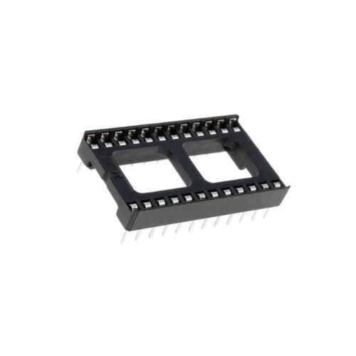 10x ICVT-24P Sockel DIP PIN 24 15,24mm THT Rastermaß 2,54mm DS1009-24ATIWX