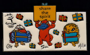 12cce1e31c5d9 Mascots Syd, Millie, Olly Share the Spirit Presents Pin - Sydney ...