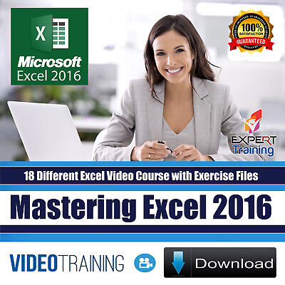 Mastering Microsoft Excel 2016 Video Training 18 Course of Bundle Pack  DOWNLOAD | eBay