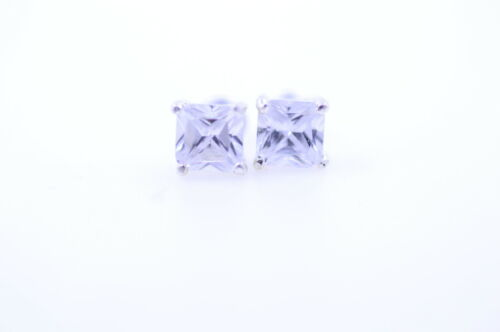 Silver and clear diamond stud style crystal earrings