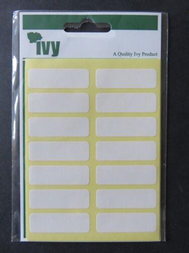 WHITE appiccicoso ETICHETTE Etichette 7 fogli di 14 98-12 x 38 mm-SIGILLATO Pack