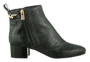 MORI-MADE-IN-ITALY-ANKLE-HEELS-BOOTS-STIEFEL-STIVALI-KROCO-LEATHER-BLACK-NERO-44
