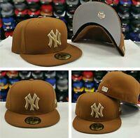 Era 5950 York Yankees Light Brown Men's Fitted Mlb Hat Yankee Cap