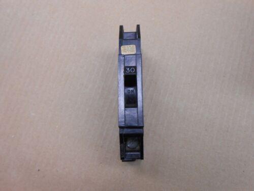 1 ZINSCO Q Q30 CIRCUIT BREAKER 30A 30 AMP 1P 1 POLE 240V 240 VOLT
