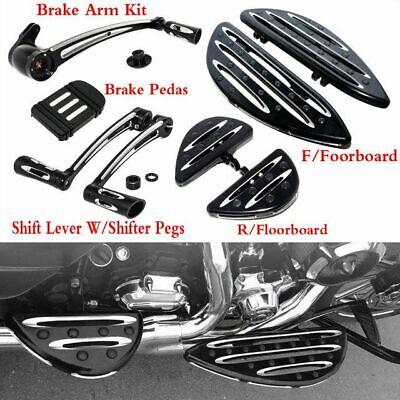Heel Toe Shift/&Linkage Lever/&F/&R Passenger Driver Floorboard/&Pedal For Harley