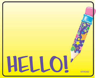 36 Hello Name Tag Stickers - School, Labels, Party