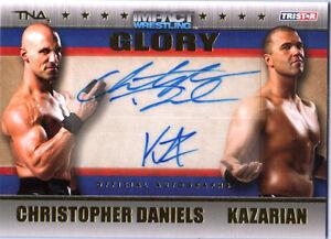 TNA-Chris-Daniels-amp-Kazarian-2013-GLORY-GOLD-Dual-Autograph-Card-SN-28-of-99