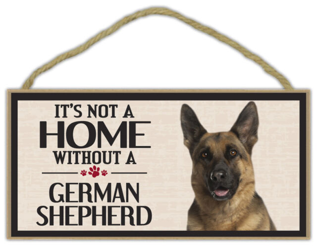 Wood Sign: It's Not A Home Without A GERMAN SHEPHERD | Dogs, Gifts, Decorations