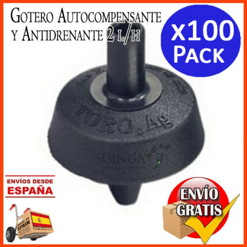 GOTERO AUTOCOMPENSANTE Y ANTIDRENANTE 2 LITROS//HORA AUTOCOMPENSADO RIEGO 100 UD