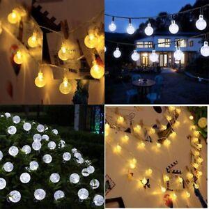 Image Is Loading 30 Led Solar Garden Lights String Fairy White