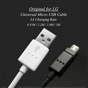 Details about Original Quick Charge Micro USB Cable 20AWG for LG V10 G4 G3  G2 Mini K10 K8 T5