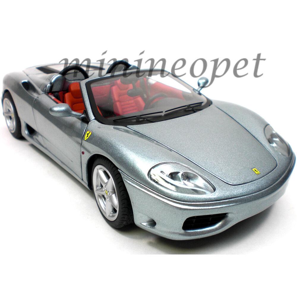 Hot wheels p9903 elite ferrari 360 spider 1   18 ein diecast modell auto grau
