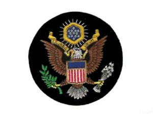 USA US Great Seal Crest COA Heraldry Seal Arms Patch President Emblem Eagle Flag