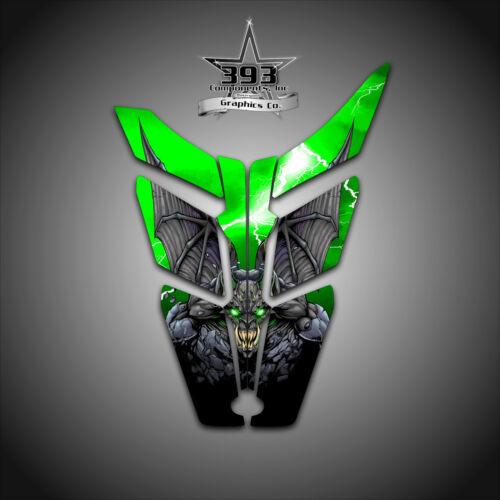 2010-2015 POLARIS PRO RMK RUSH Decal Hood Wrap Graphics Guardian Green