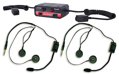 2 Full Face Headsets Motorsport Rally Terraphone Clubman Intercom Kit Race