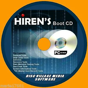 Details about HIRENS BOOT UTILITY PC CD VIRUS MALWARE CLEANERS MBR TOOLS  TEST FIX RECOVERY NEW