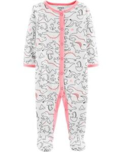 Neuf Carter's Fille Sommeil N Play Rose Imprimé Dinosaures & Aux Pieds Nb 3m Discounts Sale Girls' Clothing (newborn-5t)