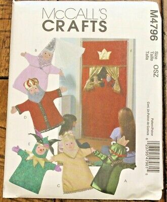 McCall/'s 4796 Doorway Theater /& Puppets King Queen Jester Frog Princess Pattern