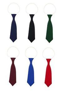 1 X Satin Elastic Neck Tie for Wedding Prom Boys Children School Kids Ties k!