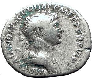 TRAJAN-114AD-Rome-TRAJAN-039-s-COLUMN-in-the-Forum-Ancient-Silver-Roman-Coin-i63406