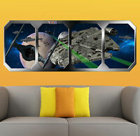 STAR WARS  TIE FIGHTER ATTACK  !!!    GIANT WINDOW VIEW   PRINTED POSTER