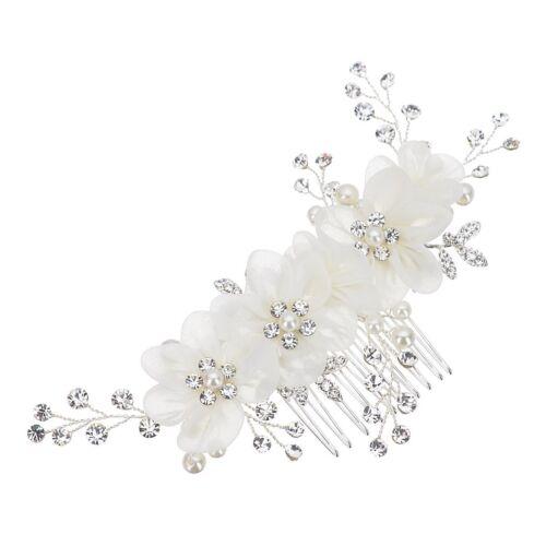 Braut Hochzeit Perlen Haarschmuck Haarblume Blume Schmuck Haarkamm Braut frisur