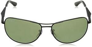 88e975cf87 Authentic Ray Ban RB3519 006 9A Matte Black Metal Aviator Sunglasses ...
