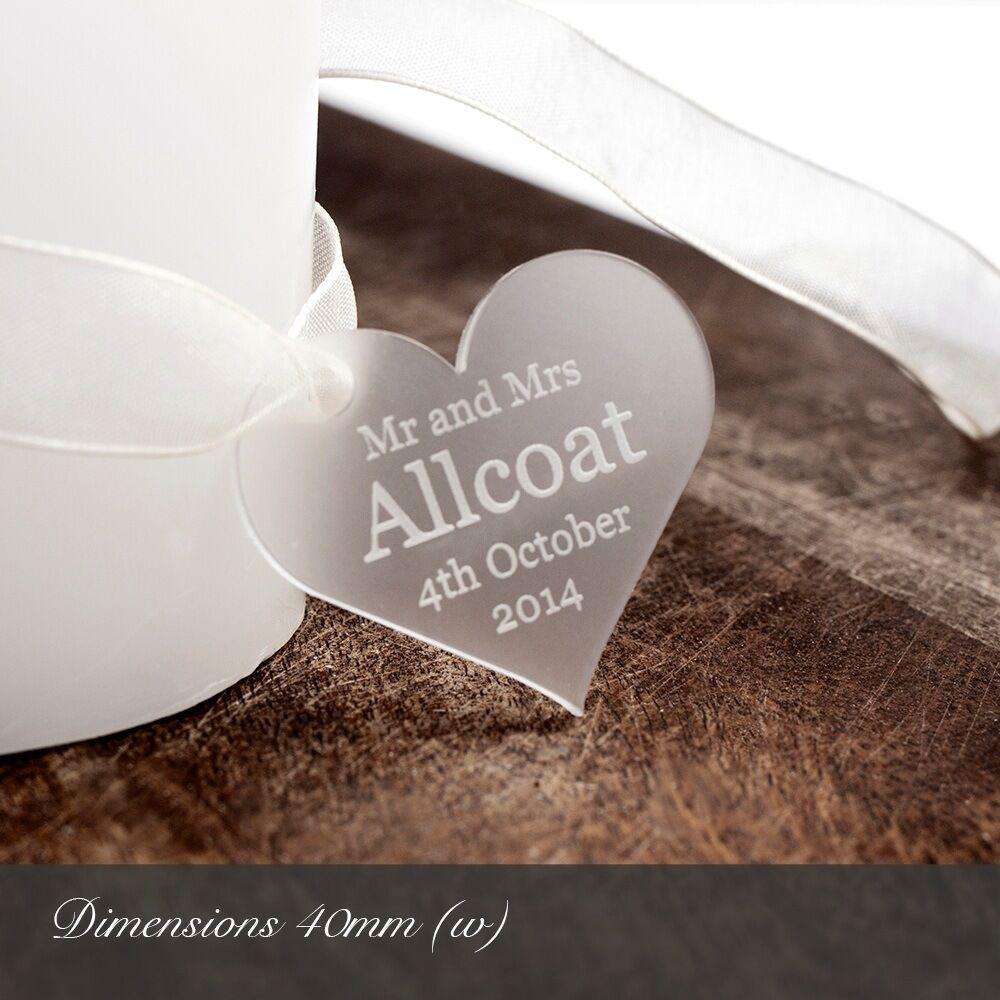 Personalisiert 4cm Klar Frosted Acryl Herz Gastgeschenke oder für Dekorationen  | Good Design  | Düsseldorf Online Shop  | Zart