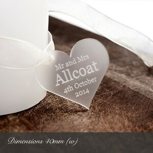 Personalised-4cm-Clear-Frosted-Acrylic-Heart-Wedding-Favours-or-for-Decorations